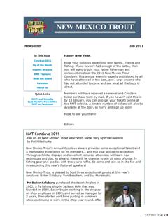 Newsletter - January 2011