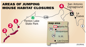 Map of Rio Cebolla closed areas from Albuquerque Journal