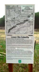 Closure order along the Rio Cebolla